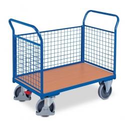 Dreiwandwagen mit Gitterwänden, LxBxH 1030 x 500 x 950 mm, Tragkraft 400 kg