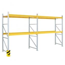 Paletten-Steck-Komplettregal, mit 4 Paar Tragbalken für 18 Europaletten, BxTxH 5710x1100x3000 mm + 1x GRATIS Eckschutz