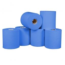 Rollenhandtuch, blau, 1- lagig (1 VE = 6 Rollen), LxB 300 m x 200 mm