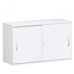 Schiebetürenschrank FLEX, 2OH, weiß, BxTxH 1200x425x720 mm