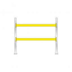 Palettenregal mit 2 Paar Tragbalken für 9 Europaletten, Fachlast 2900 kg/Tragbalkenpaar, BxTxH 2925x1100x2500 mm