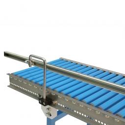 Gerade Seitenführung, einseitige Ausführung, Aus U-Profil 20/70/20 mm, für Bahnlänge: 1000 mm