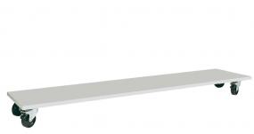 Untertisch-Wagen für Tischbreite 2000 mm, HxBxT 160x1375x500 mm, ohne Bügel