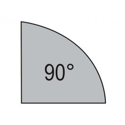 Verkettungsplatte, Viertelkreis 90°, Lichtgrau, BxT 800x800 mm