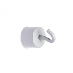 Haftmagnete mit Haken, weiß, Haftkraft 11 kg, Ø 20 mm