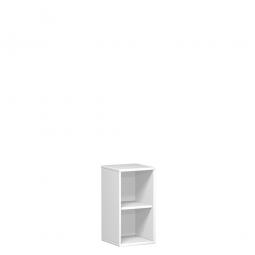 Büroregal PRO, 2 Ordnerhöhen, weiß, BxTxH 800x425x768 mm