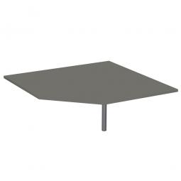 Fünfeck-Verkettungsplatte 90° PREMIUM, Graphit/Silber, BxT 1225x1225 mm