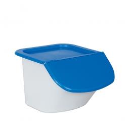Zutatenbehälter / Zutatenspender, 15 Liter, LxBxH 440 x 400 x 280 mm, weiß/blau