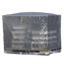 Abdeckhaube für Gitterbox, transparent, LxBxH 1250 x 850 x 980 mm, Materialstärke 120g/qm