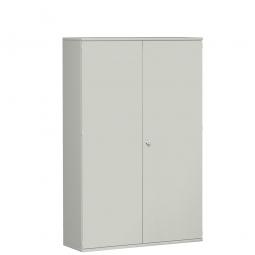 Garderobenschrank PRO, lichtgrau, BxTxH 1200x425x1920 mm, 5 Fachböden, 1 Kleiderstange