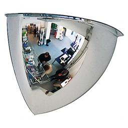 Panoramaspiegel, 90°, LxBxH 420x420x360 mm, Für Innen, max. Beobachterabstand 5 m, Gewicht 3 kg