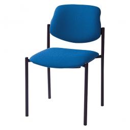 Besucherstuhl, Gestell schwarz, Polster marineblau, stapelbar, BxTxH 500x550x820 mm, Sitzhöhe 460 mm.