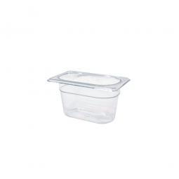 Gastronorm-Schale GN1/9, LxBxH 176 x 108 x 100 mm, 0,8 Liter, Polycarbonat