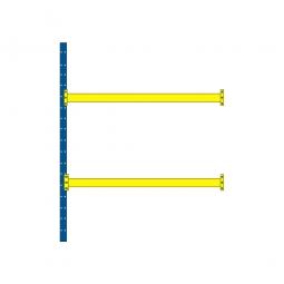 Paletten-Anbauregal mit 2 Paar Tragbalken für 9 Europaletten, Tragkraft 4600 kg/Tragbalkenpaar, BxTxH 2785 x 1100 x 3500 mm