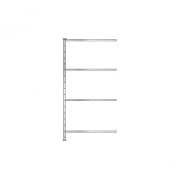 Fachbodenregal - Pro -Anbauregal, glanzverzinkt, HxBxT 2000x1010x410 mm, mit 4 Fachböden
