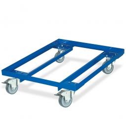 Rahmenroller, LxBxH 810 x 610 x 190 mm, Tragkraft 240 kg, Rad-ØxB 100 x 28 mm, Vollgummibereifung