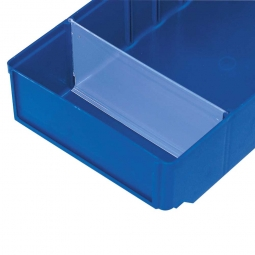 Querteiler für Regalkästen CLASSIC B 186 mm, Kunststoff, transparent, VE=25 Stück