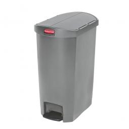 Tretabfalleimer SlimJim, 50 Liter, grau, LxBxH 528x344x721 mm, Polyethylen, Pedal an der Schmalseite