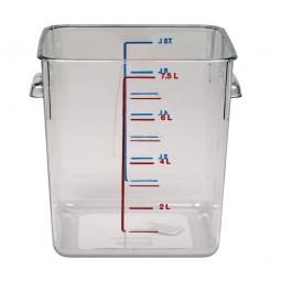 Platzsparbehälter, viereckig, LxBxH 220 x 210 x 220 mm, 7,5 Liter, glasklar