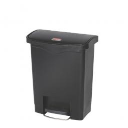 Tretabfalleimer SlimJim, 30 Liter, schwarz, LxBxH 425x271x536 mm, Polyethylen, Pedal an der Breitseite