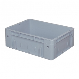 Schwerlast-Eurobehälter, geschlossen, PP, LxBxH 400x300x120 mm, 9 Liter, 2 Griffleisten, grau