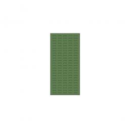 System-Schlitzplatte BxHxT 450x1000x18 mm, Aus 1,25 mm Stahlblech, kunststoffbeschichtet in resedagrün