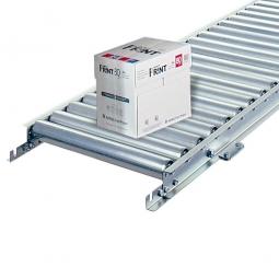 Leicht-Rollenbahn, LxB 1500 x 600 mm, Achsabstand: 75 mm, Tragrollen Ø 50 x 1,5 mm