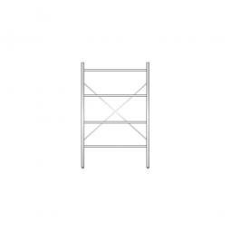 Aluminiumregal mit 4 Gitterboden, Stecksystem, BxTxH 1000 x 500 x 1600 mm, Nutztiefe 480 mm