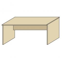 Schreibtisch mit geschlossenen Seitenwangen, Platte Ahorn, BxTxH 800 x 800 x 720 mm