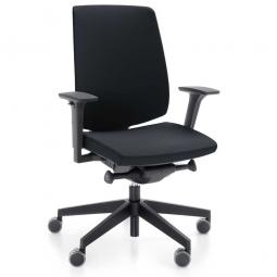 """Bürodrehstuhl """"Light up"""" mit Armlehnen, schwarz, Sitz BxT 480 x 440-500 x 450-580 mm, Rückenlehnenhöhe 550 mm"""