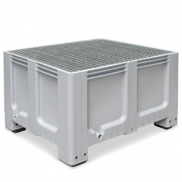Abtropfbecken, Farbe grau, Material PE-HD, Volumen 610 Liter, LxBxH 1200x1000x760 mm
