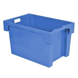 Drehstapelbehälter, LxBxH 600 x 400 x 350 mm, 60 Liter, blau