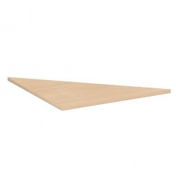 Dreieck-Verkettungsplatte 90° PREMIUM, Buche/Silber, BxT 800x800 mm