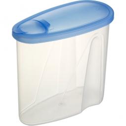 Lebensmitteldose mit Ausschüttöffnung, LxBxH 195 x 90 x 180 mm, 1,8 Liter