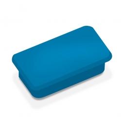 Haftmagnete, blau, eckig 23x50 mm, Haftkraft 1000 g, Paket=10 Magnete