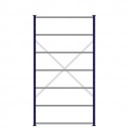 Ordner-Steck-Grundregal, einseitige Ausführung, HxBxT 2300x1270x315 m, Oberfläche kunststoffbeschichtet