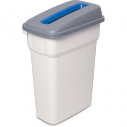 Abfall- und Wertstoffbehälter mit Einwurfschlitz, BxTxH 290 x 490 x 800 mm, eckig, 70 Liter