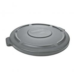Deckel für Mehrzweckbehälter 121 Liter, grau, Ø 560 mm, Polyethylen-Kunststoff (PE)