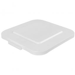 Deckel für Mehrzweckbehälter eckig, 151 Liter, LxB 600x600 mm, weiß, Polyethylen-Kunststoff (PE-HD)