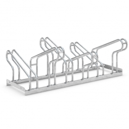 Fahrradständer, zweiseitig, 8 Einstellplätze (2x4), für Reifenbreite bis 55 mm, L 1400 x H 415 / 325 x T 710 mm