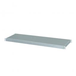 Regalboden aus Edelstahl, BxT 850 x 350 mm, Tragkraft 150 kg