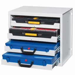 Kofferschrank, HxBxT 466x507x378 mm, lichtgrau RAL 7035