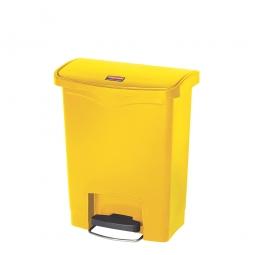 Tretabfalleimer Slim Jim, 30 Liter, gelb, LxBxH 425 x 271 x 536 mm