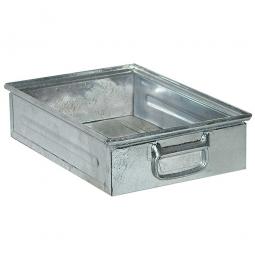 Stapelkasten ST4 aus Stahlblech, 15 Liter, LxBxH 450 x 300 x 120 mm, feuerverzinkt