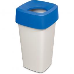 Wertstoffsammler, eckig, LxBxH 390 x 390 x 720 mm, 60 Liter, blau