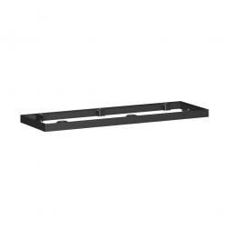Metallsockel PRO, schwarz, BxH 1200x50 mm, mit Bodenausgleichsfüßen