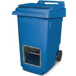 Streugutbehälter mit Entnahmeöffnung, blau, 360 Liter, HxBxT 1100 x 600 x 875 mm