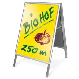Alu-Kundenstopper, Format DIN A1, BxH 600 x 850 mm