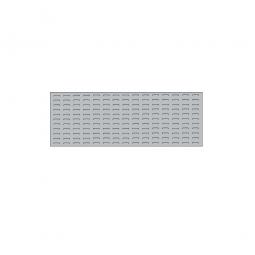 System-Schlitzplatte BxHxT 1200x450x18 mm, Aus 1,25 mm Stahlblech, kunststoffbeschichtet in lichtgrau
