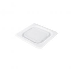 Soft-Deckel für Schale GN1/6, LxB 176x162 mm, Polyethylen-Kunststoff (PE-HD), weiß